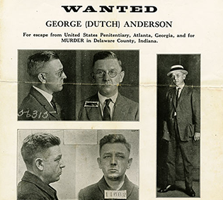 Wanted Posters for Gerald Chapman and Dutch Anderson